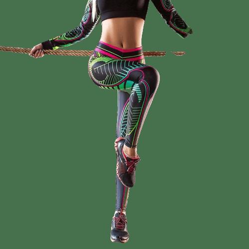 legging cuir femme