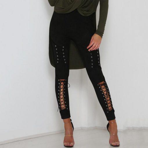 Legging Sexy Coton Lacets