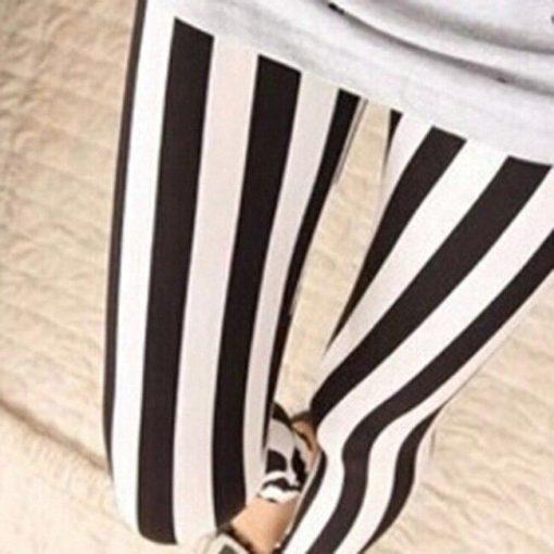 Legging Fleuri Femme Thick stripe Taille Unique (extensible)