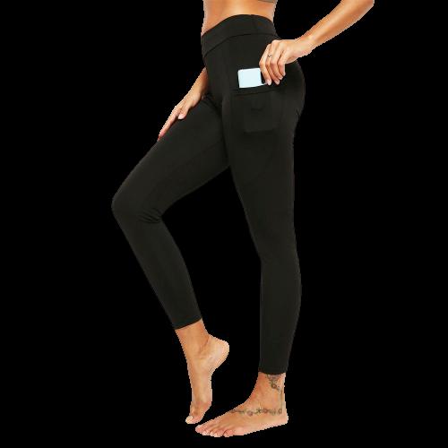 legging yoga cuir poche