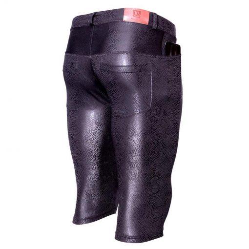 Legging Noir Brillant Grande Taille
