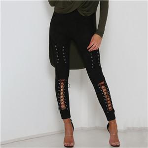 Legging Sexy Coton Lacets Black S Black M Black L