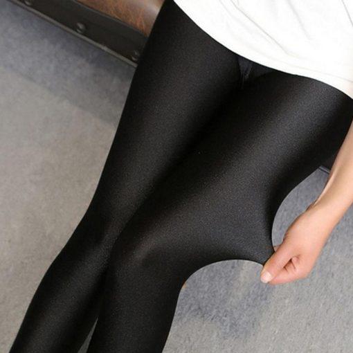 Legging Blanc Brillant Black M Black L Black XL Black XXL Black XXXL