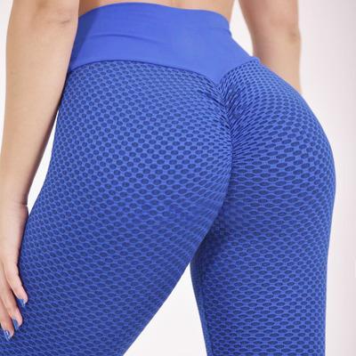 Legging Yoga Epais Maille Blue S Blue M Blue L