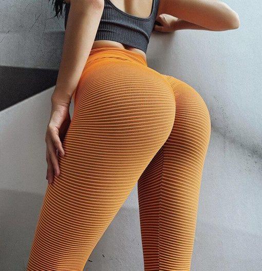Legging Anti Cellulite Minceur Taille Haute Orange S Orange M Orange L
