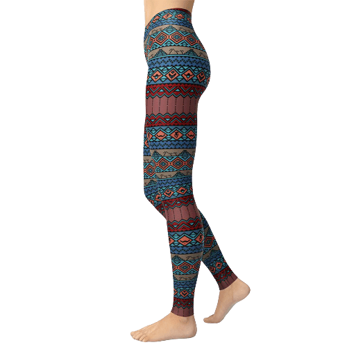 legging azteque ethnique court