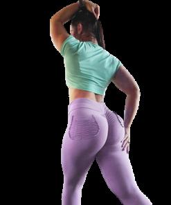 legging yoga sport poche taille haute femme