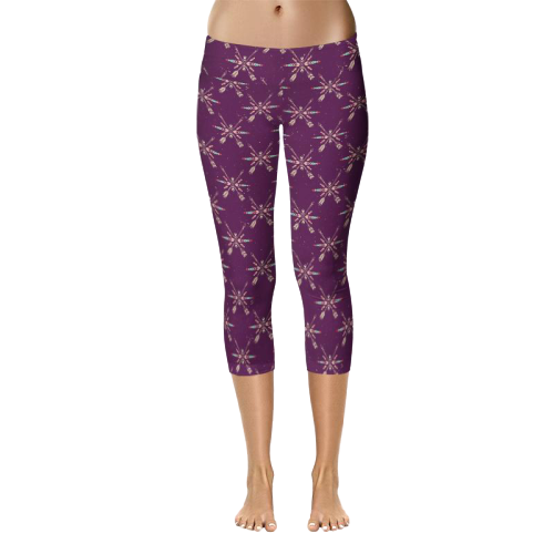 legging violet grande taille