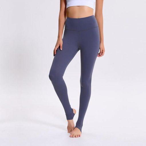 Legging Yoga Cuir Taille Haute Blue S Blue M Blue L