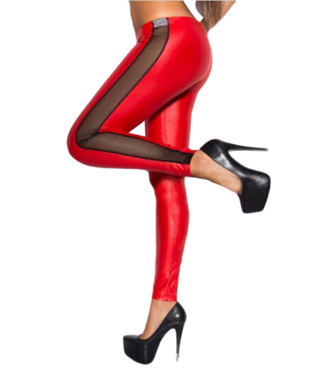 legging rouge blanc