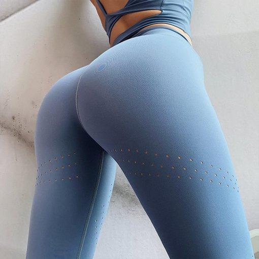 Legging Yoga De Sport Respirant Blue XS Blue S Blue M Blue L