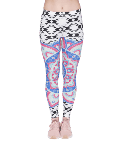 legging azteque cuir stretch