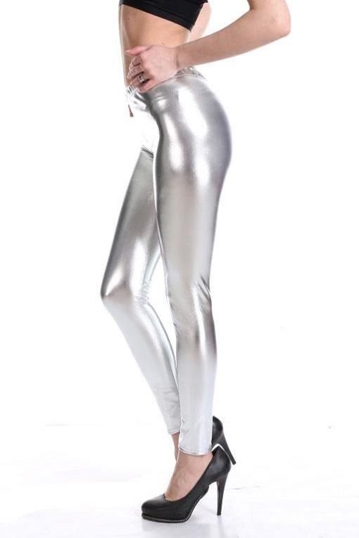 Legging Brillant Disco silver M silver L silver XL silver XXL