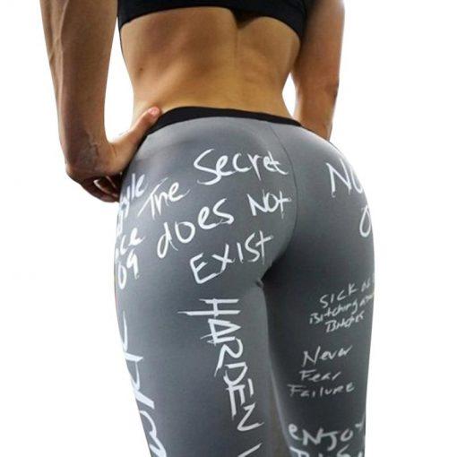 Legging Collant Femme Graffiti Gris S Graffiti Gris M Graffiti Gris L Graffiti Gris XL
