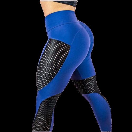 legging spandex bleu