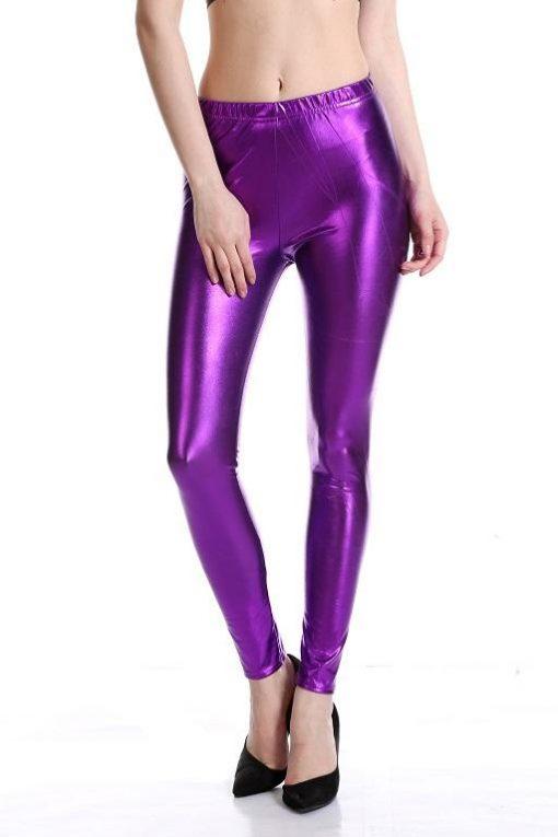 Legging Brillant Disco purple M purple L purple XL purple XXL
