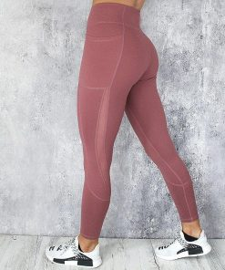 Legging Sexy Gris Maille