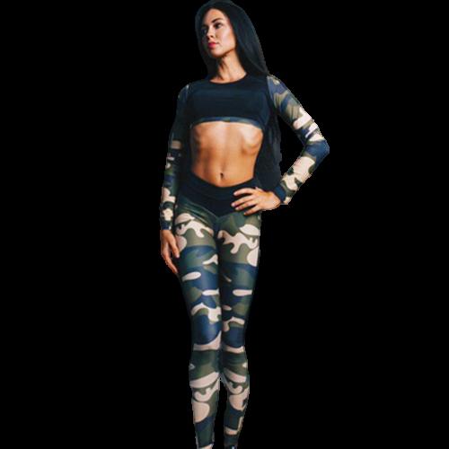 legging camouflage sport