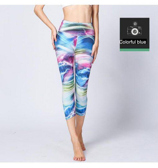 Legging Anti Cellulite Porter Femme Colorful blue S Colorful blue M Colorful blue L Colorful blue XL