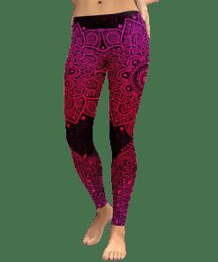 legging azteque femme rouge