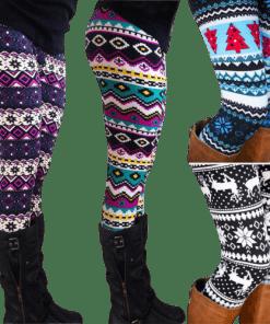 legging azteque neige femme