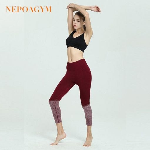 Legging Yoga Fitness Amincissant Red XS Red S Red M