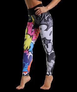 legging fitness femme taille haute respirant