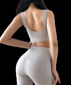 legging yoga extensible cuir