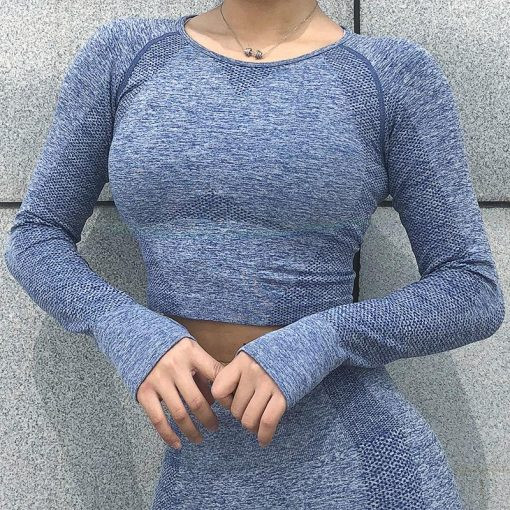 Ensemble Legging Sport Fitness Femme Blue top S Blue top M Blue top L