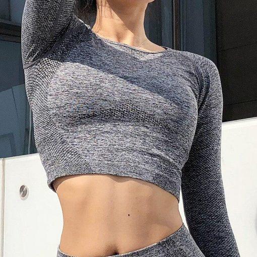 Ensemble Legging Sport Fitness Femme Gray top S Gray top M Gray top L