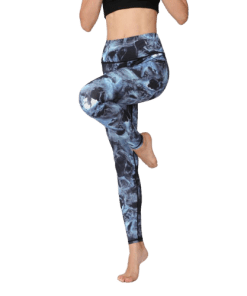 legging danse large bleu