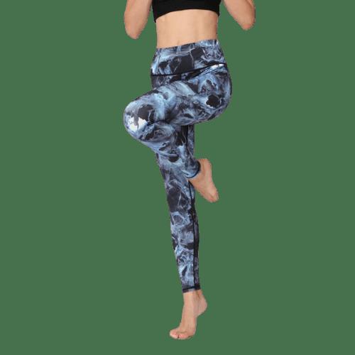 legging danse large bleu
