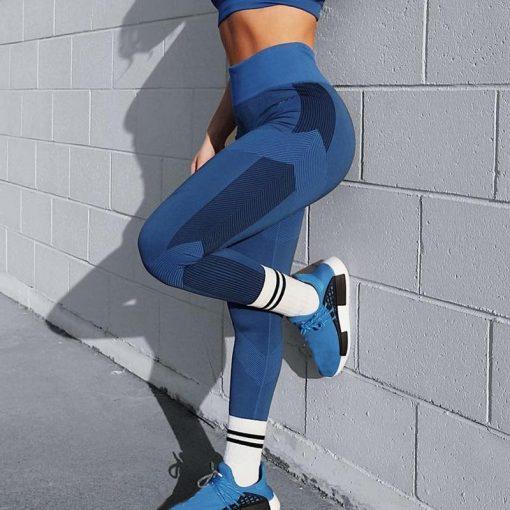 Legging Yoga Court Stretch Blue S Blue M Blue L Blue XL