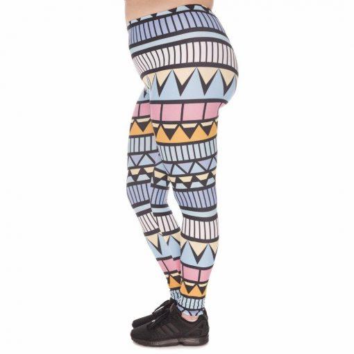 Legging Aztèque Fluo Grande Taille
