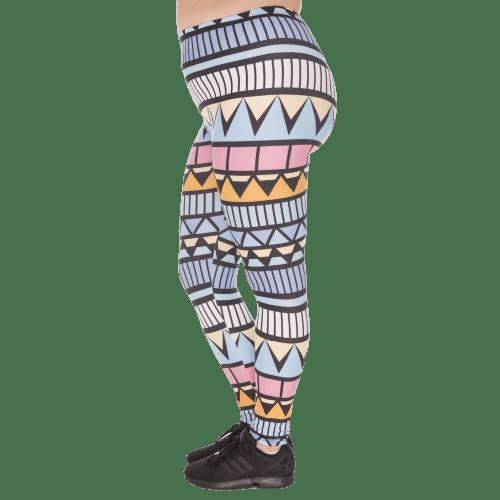 legging azteque fluo grande taille