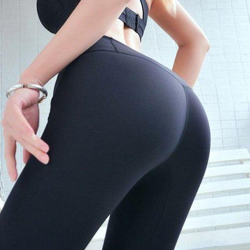 Legging Taille Haute Fille Black S Black M Black L Black XL