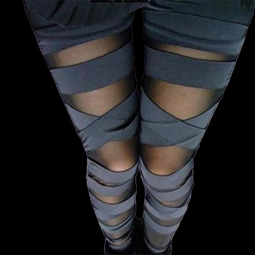 legging collant bandes