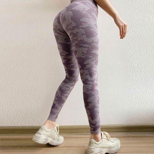 Legging Taille Haute Sport Bleu Purple XS Purple S Purple M Purple L
