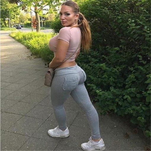 Legging Sexy Sport Femme Musculation gray S gray M gray L gray XL