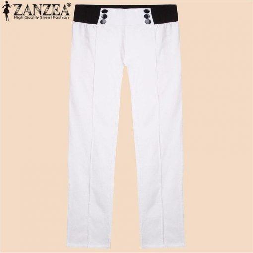 Legging Grande Taille Amincissant White S White M White L White XL White XXL White XXXL White 4XL