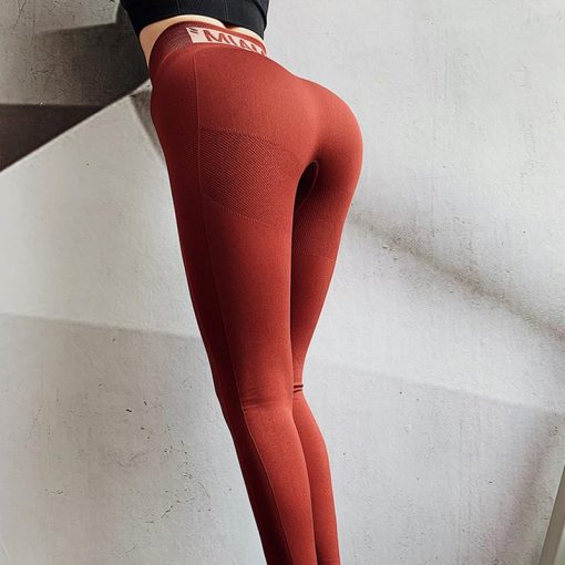 Legging Femme Taille Haute Red S Red M Red L