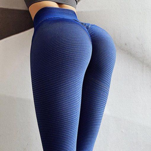 Legging Anti Cellulite Minceur Taille Haute Blue S Blue M Blue L
