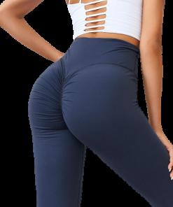 legging yoga sport bleu