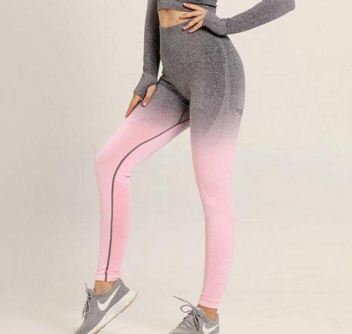 Legging Yoga Ado Bonne grey pink legging S grey pink legging M grey pink legging L