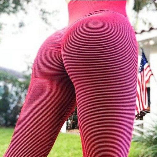 Legging Anti Cellulite Minceur Taille Haute Red S Red M Red L