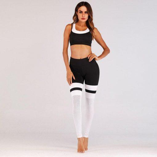 Legging Corsaire Fitness Black and White-Set S Black and White-Set M Black and White-Set L