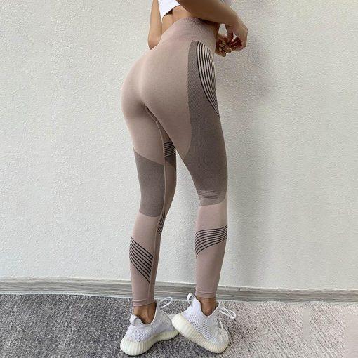 Legging Sport Rayure Pink S Pink M Pink L Pink XL