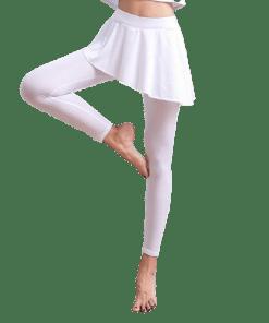 legging blanc femme