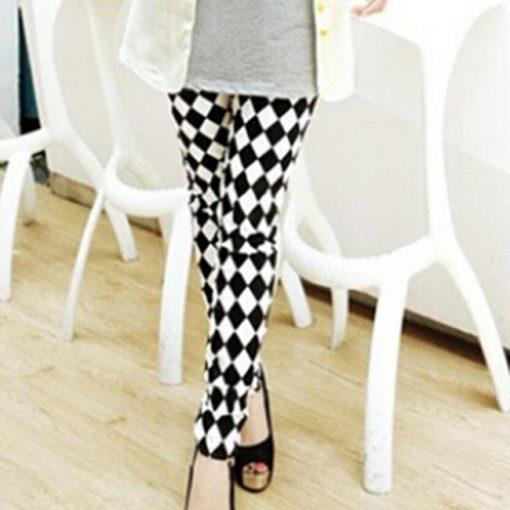 Legging Fleuri Femme diamond Taille Unique (extensible)