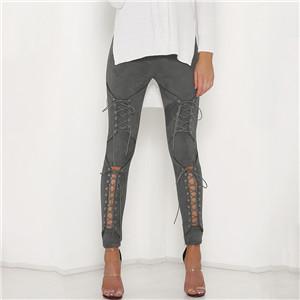 Legging Sexy Coton Lacets Gray S Gray M Gray L